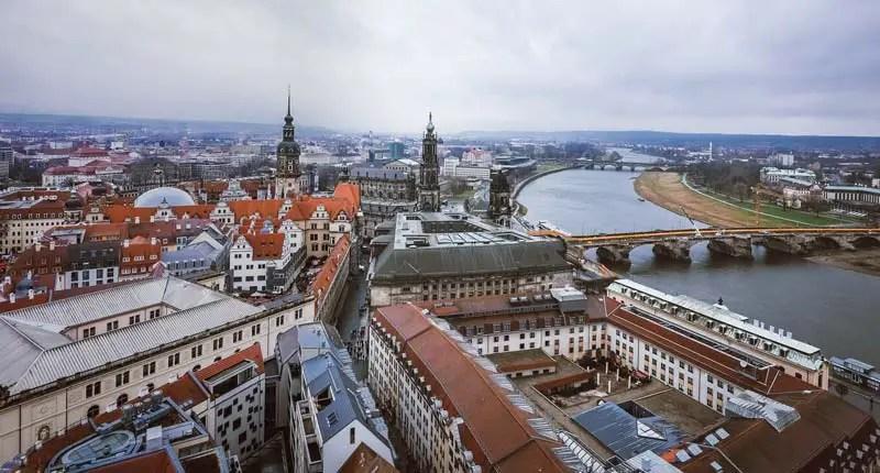 Dresden Sehenswürdigkeiten im Winter Frauenkirche