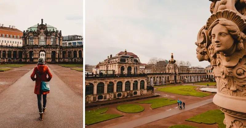 Dresden Sehenswürdigkeiten im Winter Semperoper