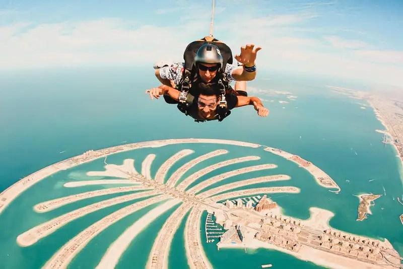 Dubai Aktivitäten Ausflüge Skydive Fallschirmsprung