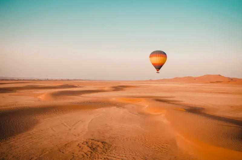 Dubai Aktivitäten Ausflüge Heissluftballonfahrt