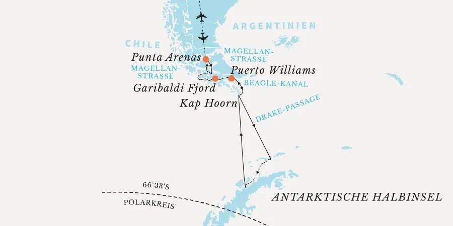 hurtigruten-antarktik-reiseroute