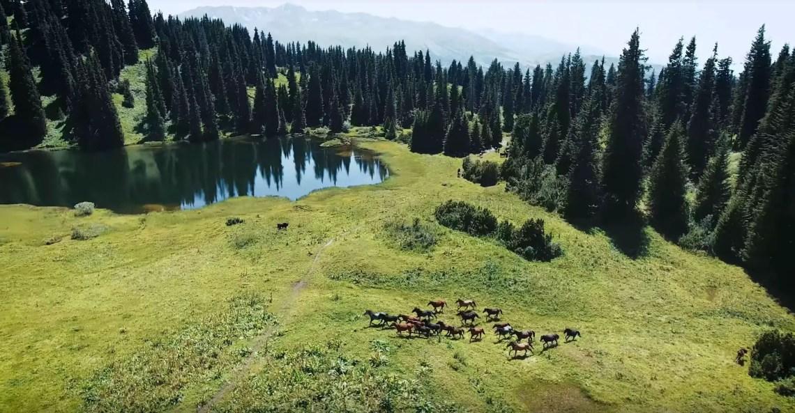 Kirgistan Drohnenvideo Jyrgalan Valley