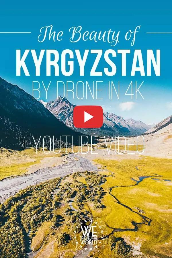 Kirgistan Landschaft: Kirgistan von oben | Kyrgyzstan drone video | Kirgistan aerial shot #drone #bucketlist #video
