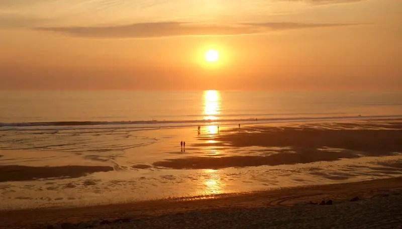 Sonnenuntergang am Meer von Lacanau