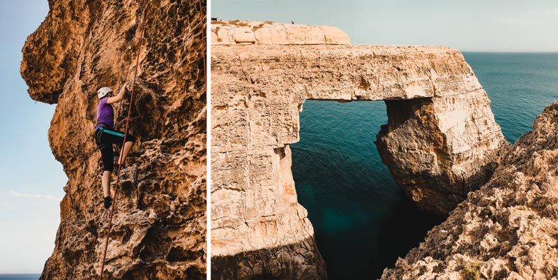 Malta Highlights Wied il Mielah Alternative Azure WIndow