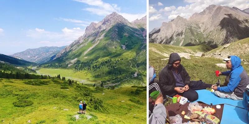 Mittagessen Beim Trekking in Kirgistan