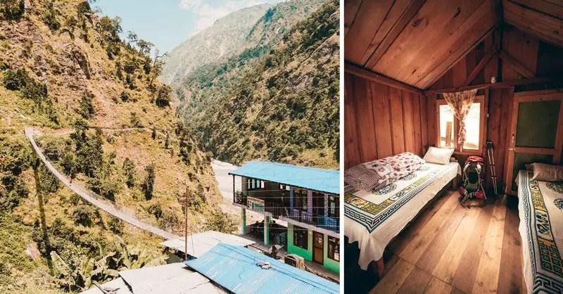Annapurna Circuit oder Manaslu Circuit Unterkünfte