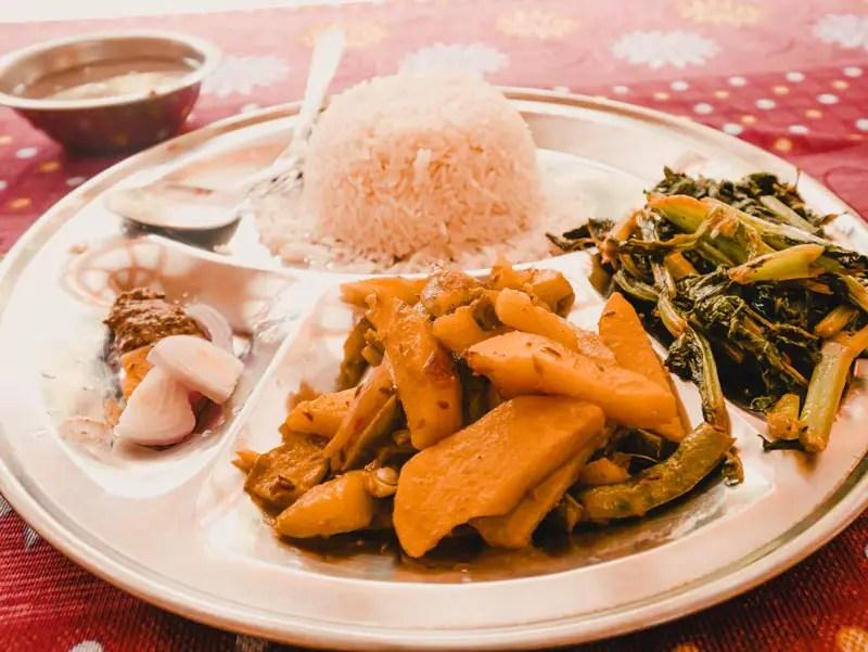 Annapurna Circuit oder Manaslu Circuit Essen
