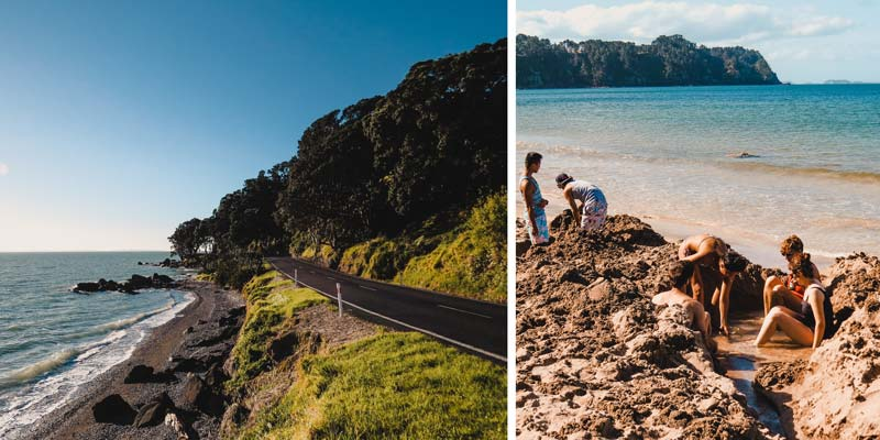 Neuseeland Nordinsel Highlights Hot Water Beach Coromandel