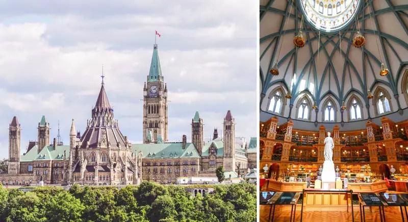 Parlament Ottawa Sehenswürdigkeiten
