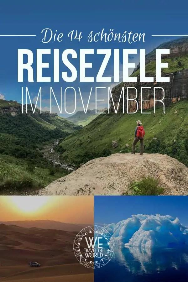 Reiseziele November: Die 14 besten Reiseziele im November 2018 – für Abenteuer & Outdoor Fans #reiseziele #reisetipps #reiseinspiration