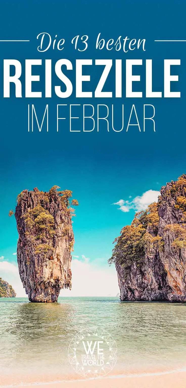 Die schönsten Reiseziele im Februar