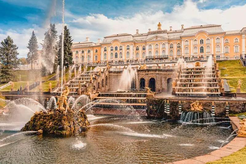 Russland Sehenswürdigkeiten, Highlights und Reisetipps Schloss Peterhof