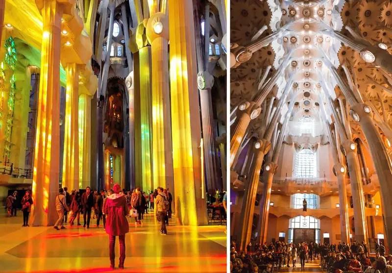 Sagrada Familia Reiseführer Sagrada Familia von innen