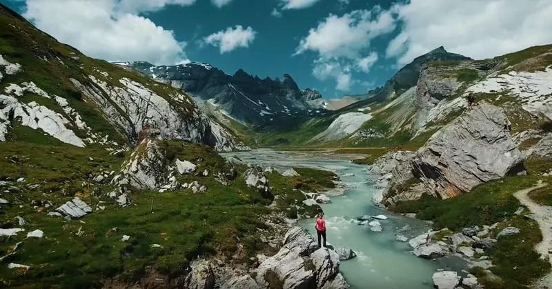 Schweiz Drohnenvideo Segnesboden