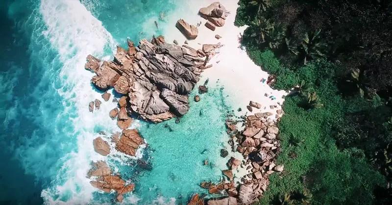 Seychellen Drohnenvideo La Digue