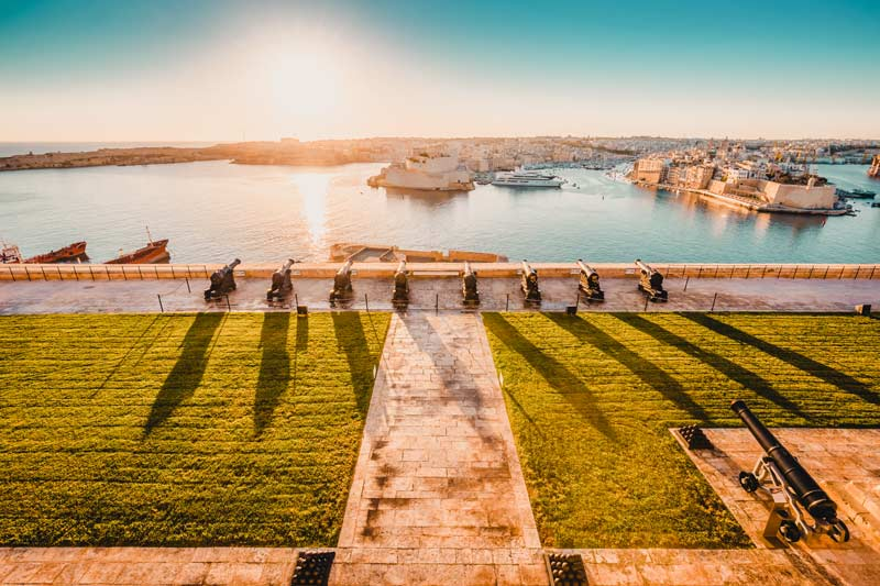 Valletta Sehenswürdigkeiten upper barraka gardens