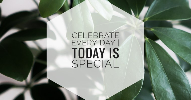 Celebrate every day – today is special <3