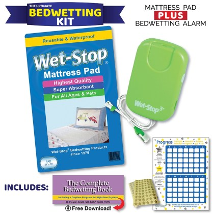Wet-Stop Kit - bedwetting alarm and bed pa