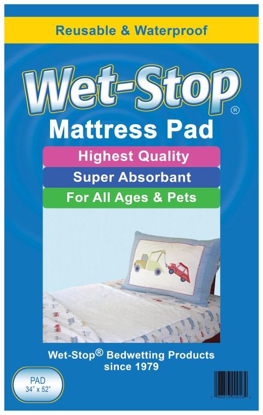 "Wet-Stop 34"" x 52"" mattress pad"
