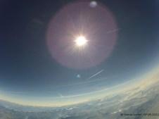 Sowohl Höhe als auch Temperatur nicht mehr übermittelt: Bergpanorama mit Flugzeug