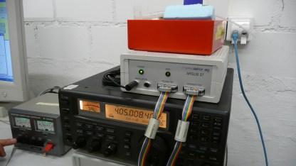 Die Funkstation, welche die Daten der Meteosonde empfängt