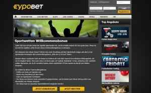 50€ kann sich ein Neukunde bei Eypobet im Sportwetten-Bereich sichern
