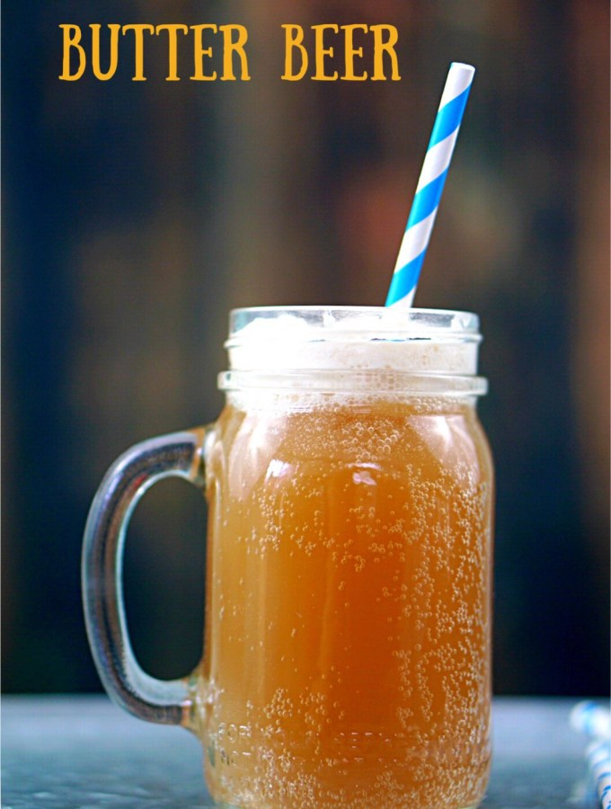 Most people who visit Hogsmeade at Universal and has Butter Beer wants to know how to have it at home. You can make one for the kids and one for the adults!