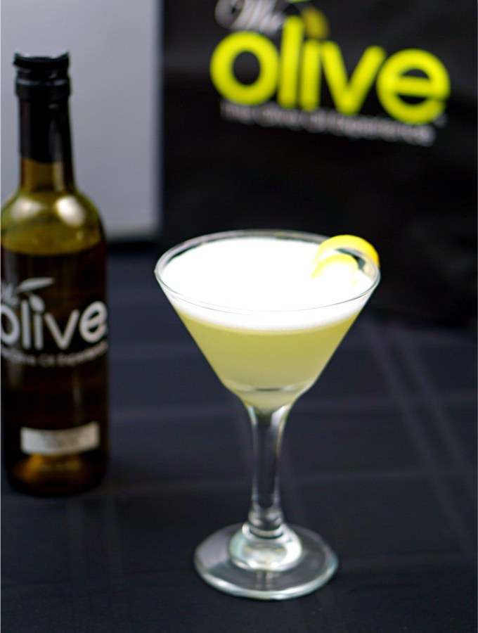 Meyer Lemon Olive Oil and Cucumber Cocktail is a light, lemony, and fresh. The Meyer lemonolive oil gives this cocktail a sumptuousmouthfeel and rich flavor.