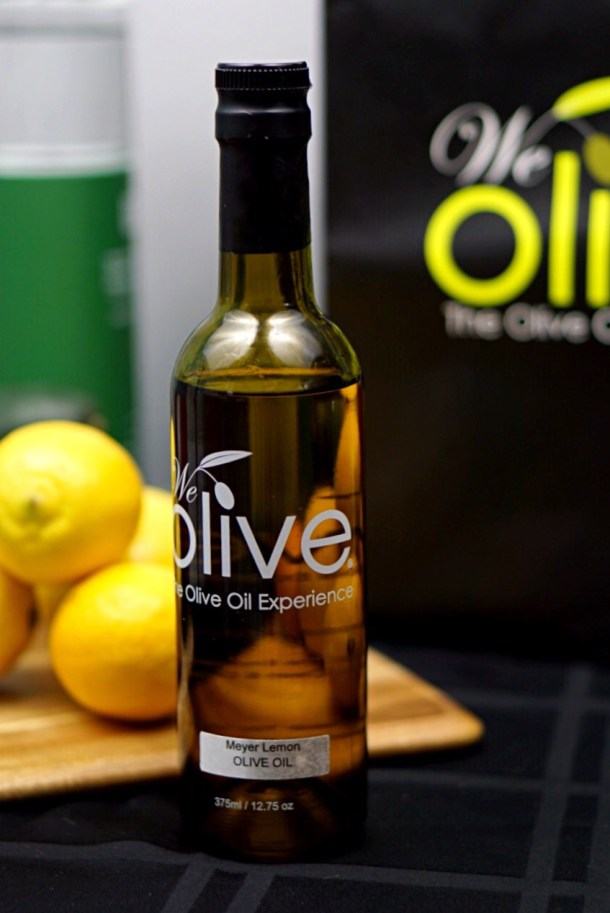 Meyer Lemon Olive Oil and Cucumber Cocktail is a light, lemony, and fresh. The Meyer lemon olive oil gives this cocktail a sumptuous mouthfeel and rich flavor.