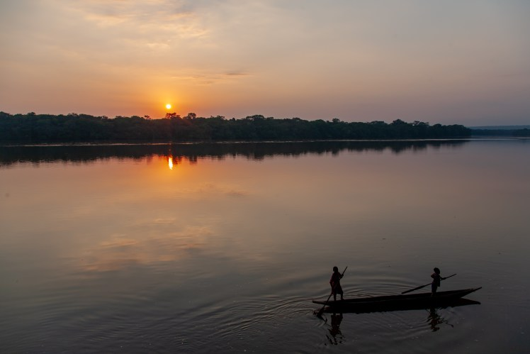 Sunset over the Sangha River, Central African Republic