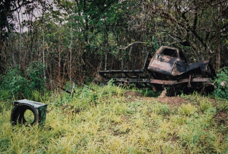 Visiting Jonestown, The People's Temple - abandoned vehicles