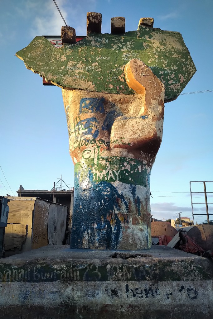 The crumbling Somaliland Independence Monument, Hargeisa.