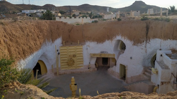 Star Wars film locations in Tunisia -Lars Homestead (interior) in the Hotel Sidi Idriss in Matmata.