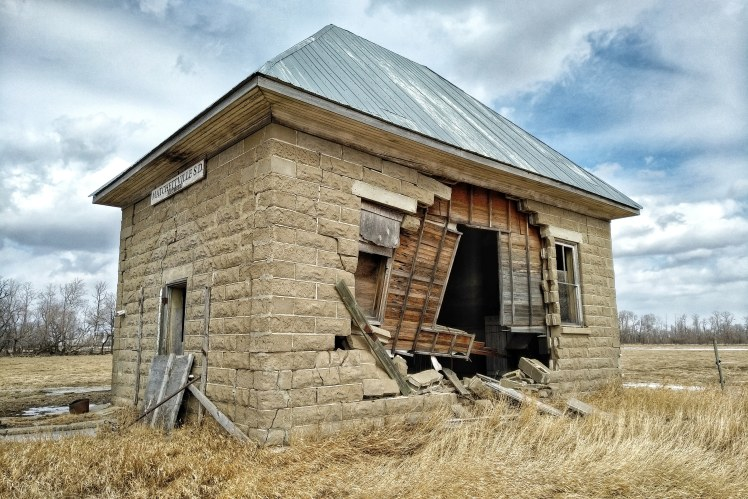Matchettville School.  These one room schools were common in small Manitoban towns in the first half of the 1900's.