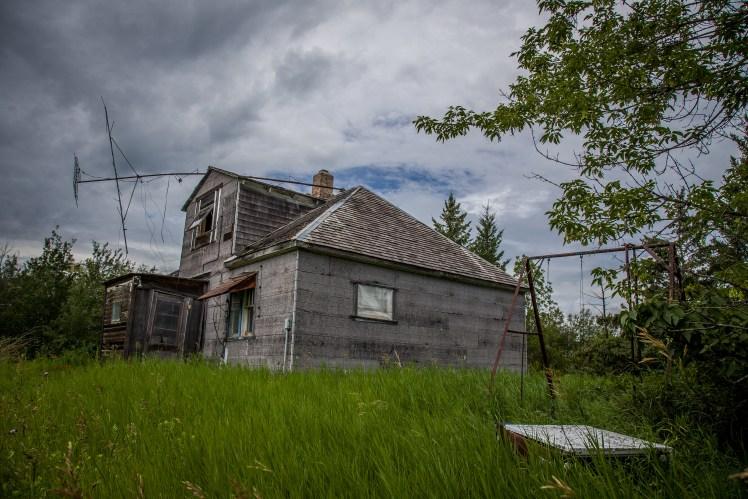 Abandoned Manitoba houses.