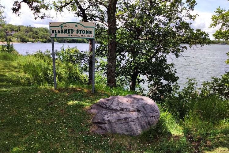 Don't kiss the Blarney Stone in Killarney, Manitoba.