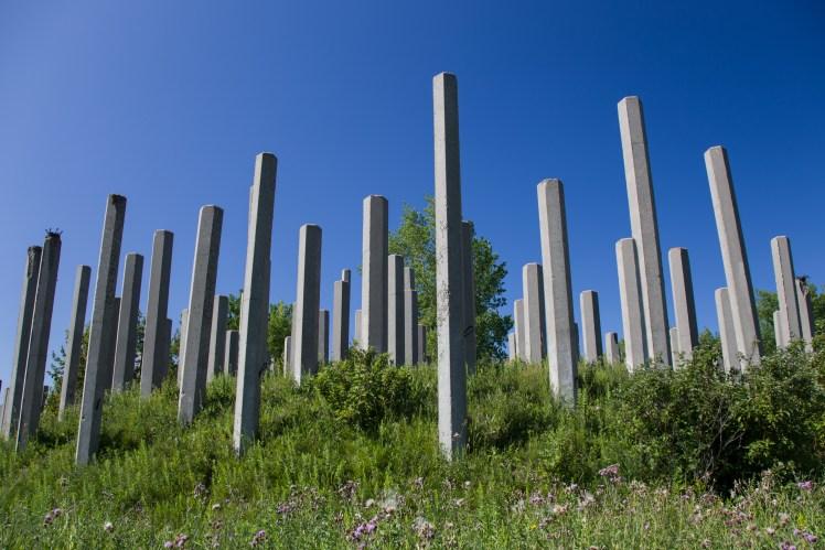 Rosser Cement Factory spires.