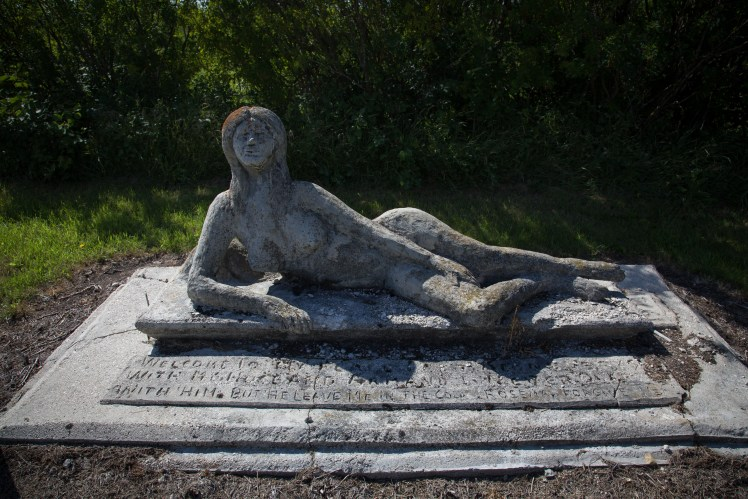 Armand's 'Wife' from 1972.  The Lemiez Statues, Manitoba.