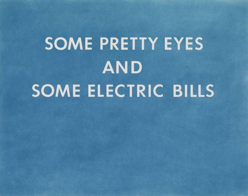 PRETTY EYES, ELECTRIC BILLS 1976 by Edward Ruscha born 1937