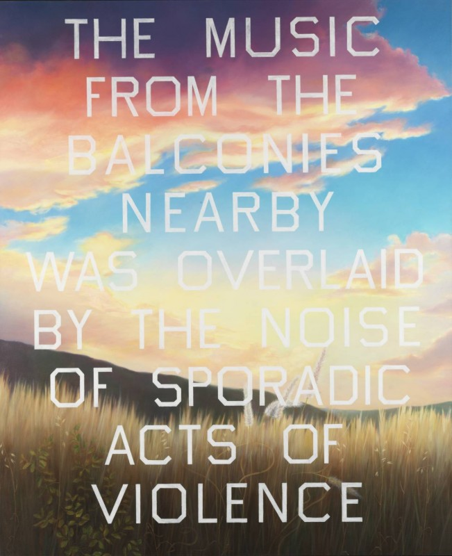 The Music from the Balconies 1984 by Edward Ruscha born 1937