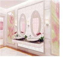 bagno bathroom moderno modern parete decorativa decorative panel wevux scuola di interni franciNf artsdesign1