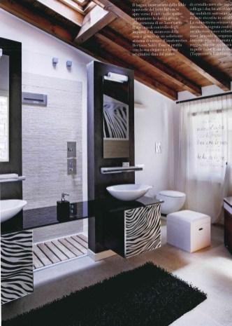 bagno bathroom moderno modern parete decorativa decorative panel wevux scuola di interni franciNf artsdesign_010