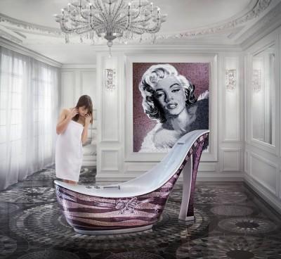 sicis franci nf arts design wevux grandi nomi per interni mosaic mosaico art factory  SICIS-the-Art-Mosiac-Factory-their-Shoe-Bathtub-Collection-is-a-Fashionista's-Dream-_06