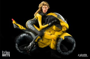 Human-Motorcycle-Body-Painting