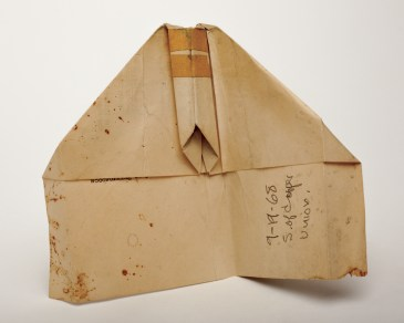 Paper airplane found on September 19, 1968 at 30 Cooper Square