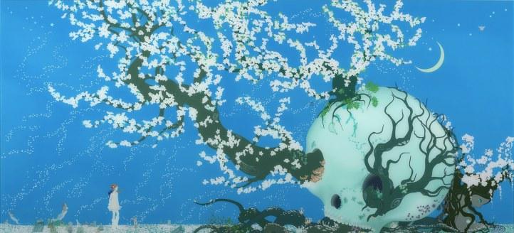 2003Aoshima_AContentedSkull_135x295cm