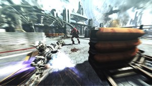 Sam kann den Boost benutzen, um mit hoher Geschwindigkeit über den Boden zu rutschen.