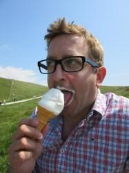 Neil and an icecream