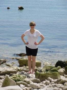 Me paddling before I foolishly went for a swim